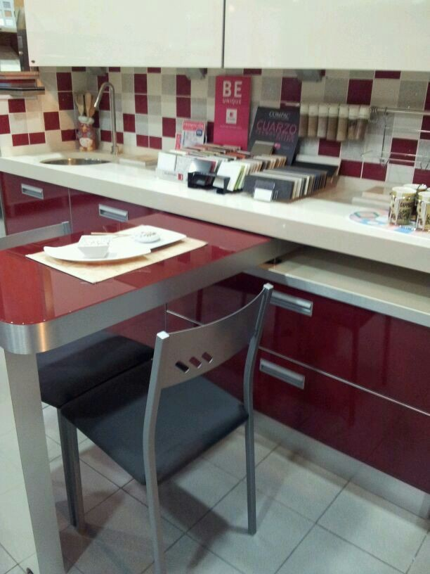 Ingeniosa mesa empotrable cocinas mel ndez burgos for Muebles de cocina en burgos